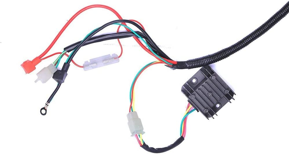DishyKooker Electric Wiring Harness Wire Loom CDI Stator Assembly for ATV Quad 125CC-250CC for Car Accessories