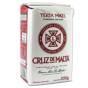 Amazon.com : Cruz De Malta 1/2 Kilo Yerba Mate : Grocery