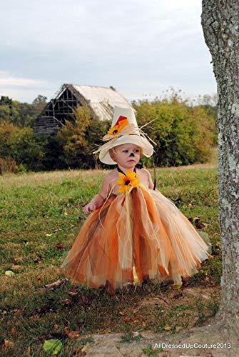 Little Girl Tutu Scarecrow Costumes - Scarecrow costume for girls, Scarecrow costume toddler, Halloween costume, Tutu Dress,