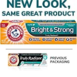 radiant ARM & HAMMER Truly Radiant Bright & Strong Fluoride Anticavity Toothpaste Fresh Mint 4.3 oz ( Packs of 3)