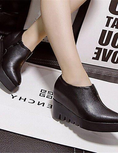 5 Uk4 Cn37 Black Zapatos Black 7 Puntiagudos 5 De 5 Semicuero Mujer us7 Cn38 Xzz Plataforma 5 5 Eu38 us6 Eu37 Uk5 Casual Botas Negro 1UFAWAn