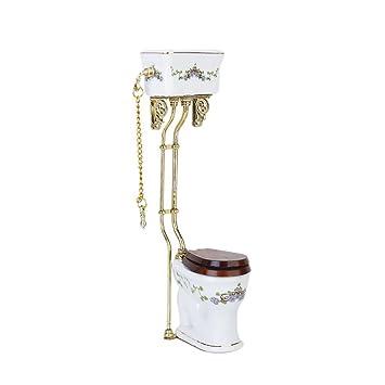 Bad Puppenhaus Miniatur Toilette Porzellan Keramik  Badezimmer