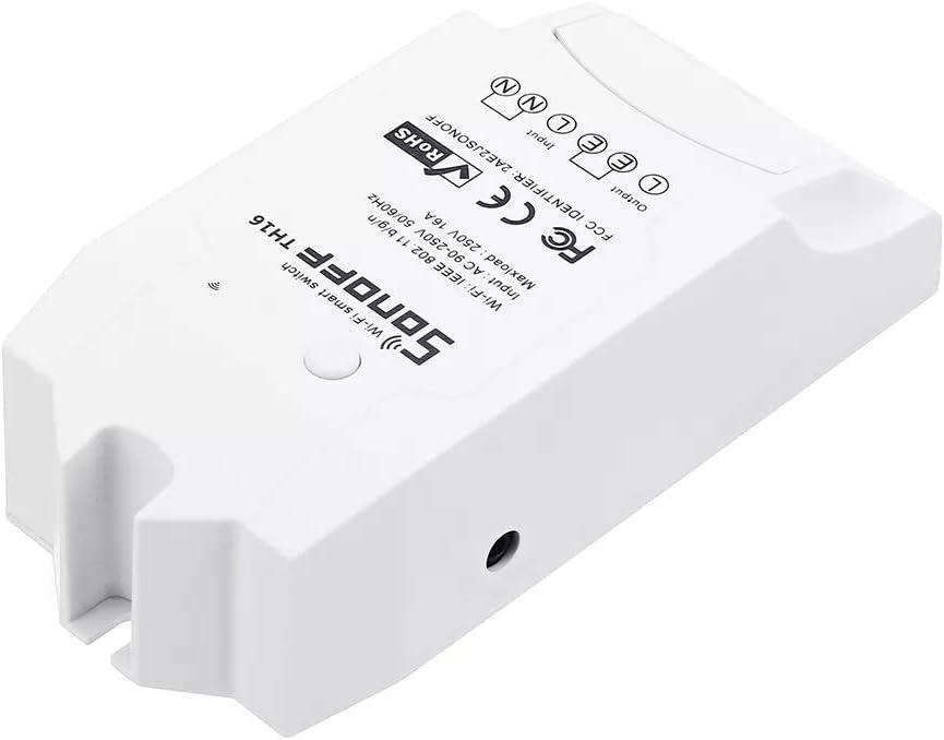 Accesorios Reemplazables LDTR-WG0283 DIY 16A 3500W Hogar elegante WIFI Temperatura inalámbrico Módulo de termostato de humedad APAGADO Fuera del interruptor de control Socket Con AM2301 Sensor de temp