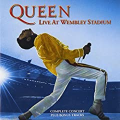 CDBigger-than-life and proud of it, Queen's tongue-in-cheek pomposity was ironically one of its most endearing charms. This double-disc live album recorded at the band's typically massive 1986 Wembley Stadium stand in support of its A Kind of...