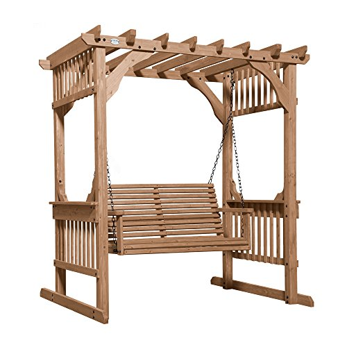 Backyard Discovery Cedar Pergola Swing by Backyard Discovery