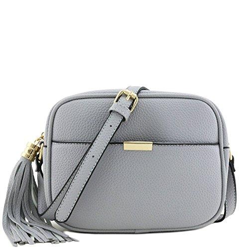 Square Tassel Crossbody Bag Blue - Square Women