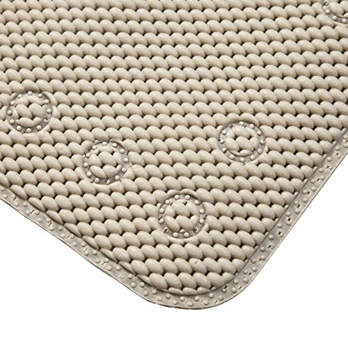 Kenney Foam Bath, Shower, and Tub Mat, Taupe