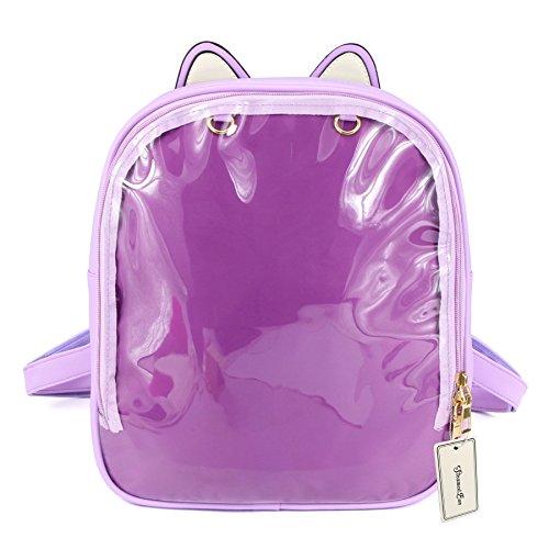 Leather Transparent Backpack