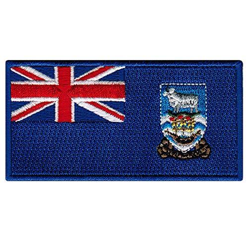 (Falkland Islands Flag Embroidered Patch Iron-On National Emblem Islas Malvinas)