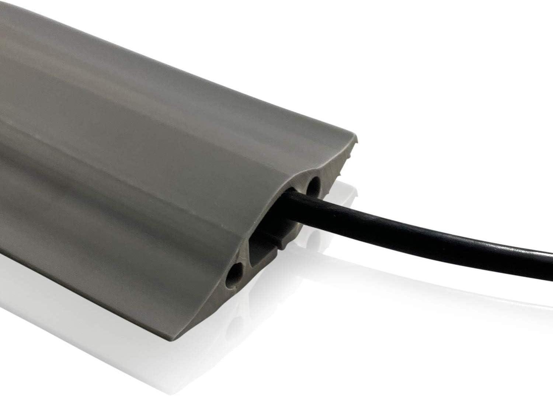 gris l x 8 mm Cavit/é de c/âble 16 mm | Gris H On1shelf/® Protection de sol de r/ésistance moyenne Prot/ège contre les risques de chute