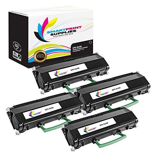 (Smart Print Supplies Compatible 24015SA Black Toner Cartridge Replacement for Lexmark E230 E232 E234 E238 E240 E330 E332 E340 E342 X340 X342 Printers (2,500 Pages) - 4 Pack)