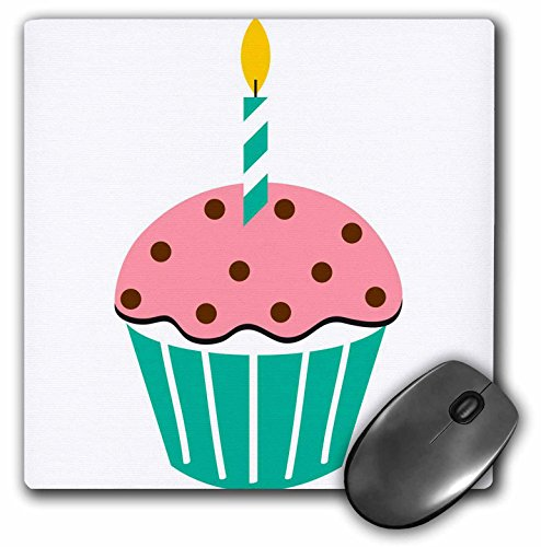 3dRose TNMGraphics Food and Drink - Chocolate Peppermint Cupcake Cartoon - MousePad - Chocolate Cupcakes Peppermint