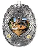 Loving Memory Pet Photo Remembrance Ornament - Embossed with the Saying, Heaven Sent My Own Angel to Love and It Was Covered with Fur – Pet Memorial Ornament – Pet Sympathy