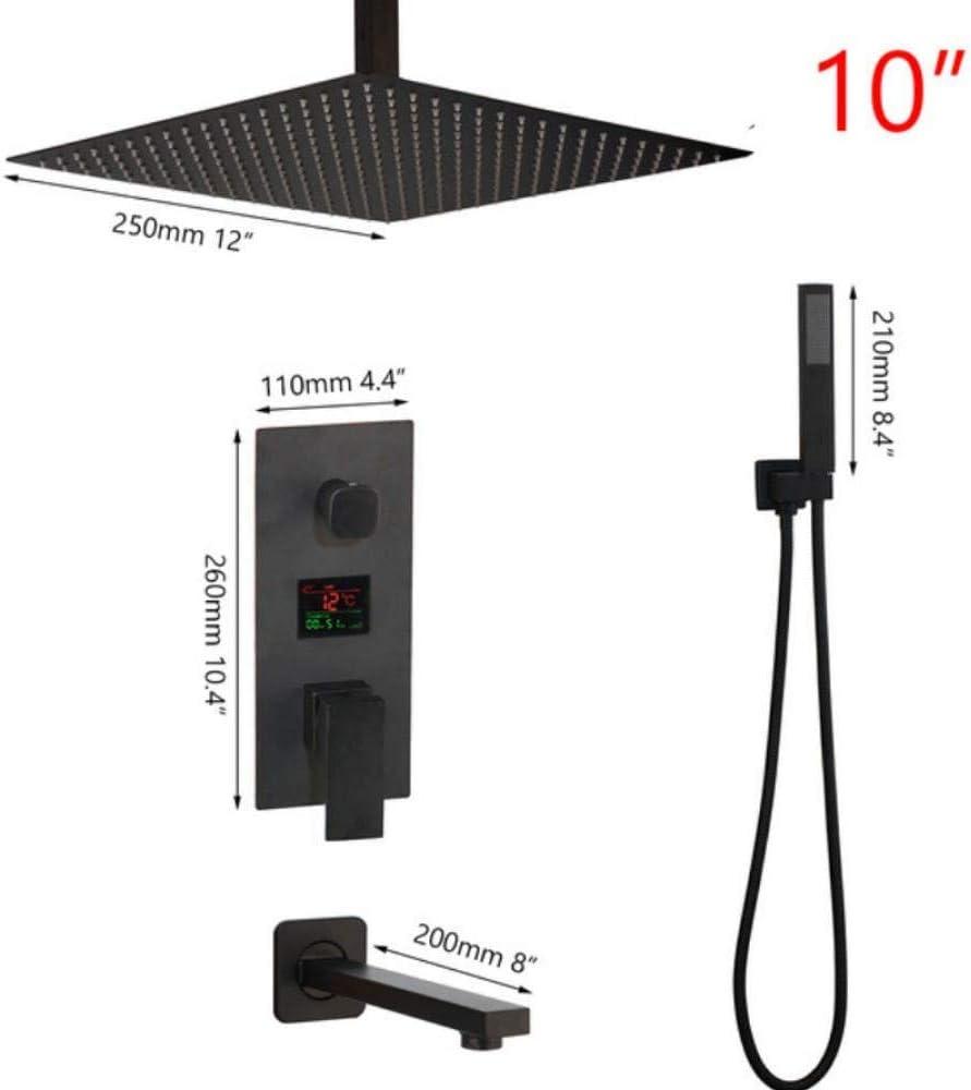 Cabezal de ducha de latón negro Grifos mezcladores con pantalla digital Grifo de ducha para baño Juego de grifos de ducha digital de 3 funciones, B: Amazon.es: Bricolaje y herramientas