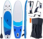 ZELUS Inflatable Paddle Board for Adults, 3m Hybrid Stand Up Paddle Board with Complete Accessory Kit, Includi