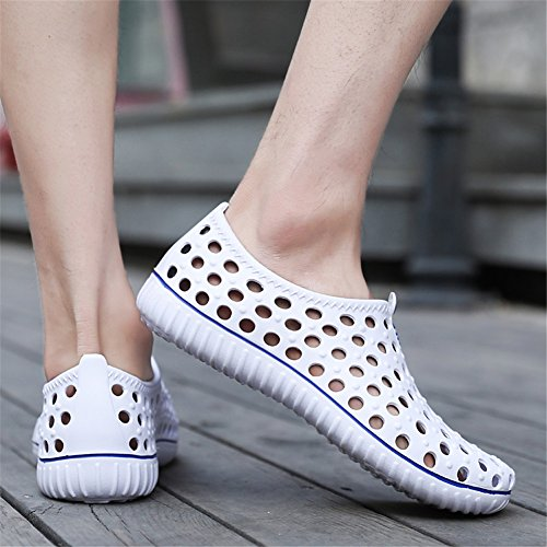 Black White Shoes Shoes White Breathable Shoes Outdoor Comfort Hole Beach Summer Men's Gray for Spring Walking Sandals Outdoor Shoes Khaki ZCdwqna