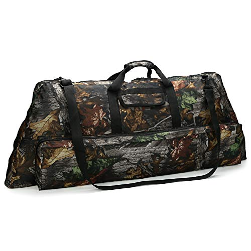 - Pellor Oxford Archery Soft Compound Bow Case Accessories Holdall Carry Bag for Hunting Training (Camo, A: 39.4x14x5.9inch)
