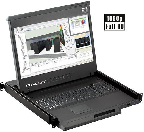 "Raloy 17"" High-Definition LED Rackmount Console / Monitor..."