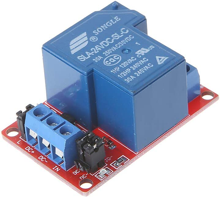 CARRYKT Module de Relais 1 Canal 5V tr/ès Faible Courant de d/éclenchement de Niveau /électrique 30A 250V VAC avec Module disolement par optocoupleur