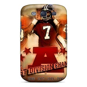Protector Hard Cell-phone Case For Samsung Galaxy S3 With Allow Personal Design Realistic Denver Broncos Pictures JoanneOickle
