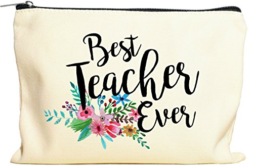 Teacher Gifts, Teacher Appreciation Gift, Best Teacher Ever, Makeup Bag, Pencil Case, Teacher Gift, Teacher Gifts For Women, Preschool, Elementary, High School, Teacher Pencil Bag