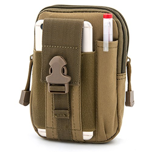 Waist Fanny Pack Belt Bag Camping Hiking Phone Pouch Khaki - 2