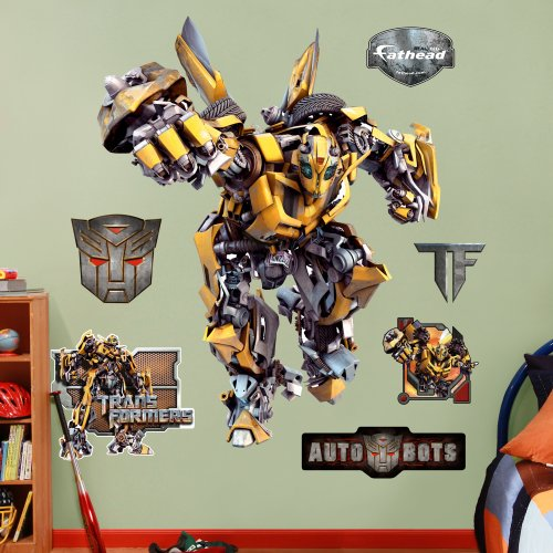 (FATHEAD Wall Decal, Transformers Bumble Bee)