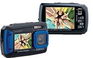 WudoliTM Waterproof & Shockproof Underwater 20MP Digital Camera & Video Camera - Dual Full-Color LCD Displays - Fully Waterproof up to 10 Feet (Blue)
