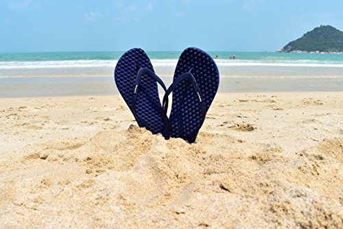 Friendly for Women Slim Slipping Fit Anti Comfort amp; flat Sandals Young Flip Red and Flops Navy Massage Bumpers Eco twvFAA