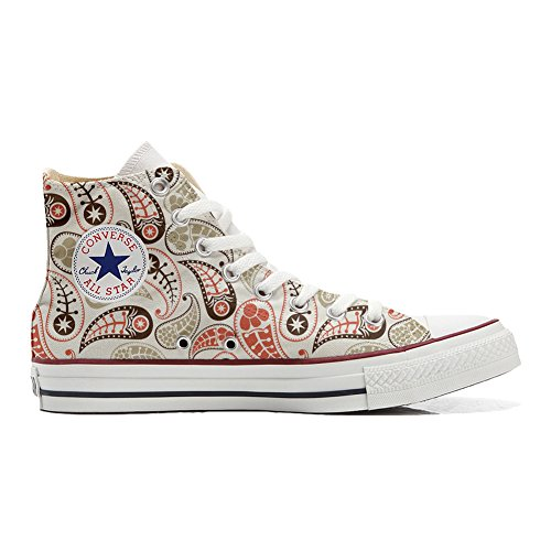 Converse All Star Hi chaussures coutume (produit artisanal) Vintage Paisley