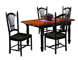 Sunset Trading 5 Piece Butterfly Dining Set with Allenridge Chairs For Sale