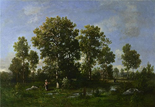 [The Polyster Canvas Of Oil Painting 'Narcisse Virgilio Diaz De La Pea Sunny Days In The Forest ' ,size: 10 X 14 Inch / 25 X 37 Cm ,this High Definition Art Decorative Canvas Prints Is Fit For Hallway Decoration And Home Gallery Art And] (Community Costumes Dance Type)