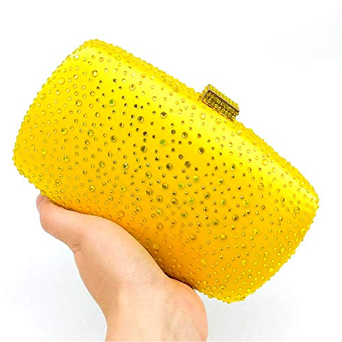 Bridesmaids Parties Ladies Bags Yellow Brides Handbags Evening Bags Silk BESTWALED Dress Clutches Fashion European Banquets American Purple and Dating 7q1RxOwd