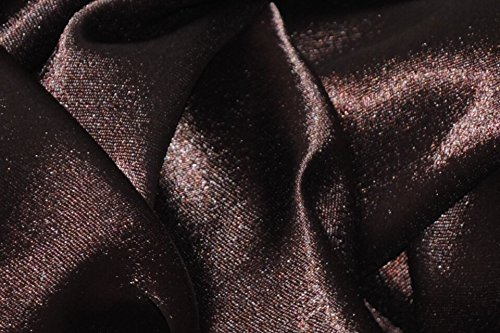 Crepe Back Satin Bridal Fabric BROWN Drapery Soft WIDE 30 YARD Roll WHOLESALE ()