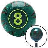 flame shifter knob - American Shifter Company ASCSNX1582280 Green Ball #8 Green Flame Metal Flake Shift Knob with M16 x 1.5 Insert 510