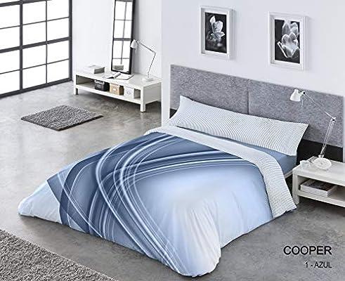 Funda Nórdica Cooper Juego DE Cama, Azul, 150 CM: Amazon.es: Hogar