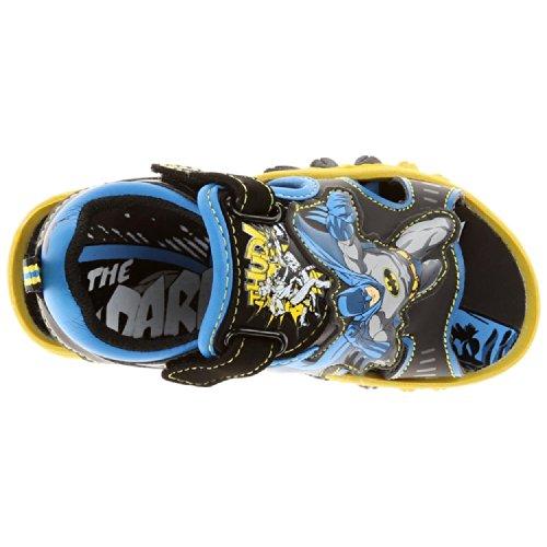 Batman Boys Black Lighted Sandals BMS601 (11 M US Little Kid)