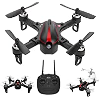 Amazingbuy RC Racing Drone Quadcopter Mini 2.4G 1306 2750KV Motor 6-axis Gyro 4CH Angle/Acro Mode High Speed Racing Drone,3D-flip Function Wind Resistance Drone Helicopter