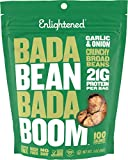 Cheap Enlightened Bada Bean Bada Boom Plant Protein Gluten Free Roasted Broad (Fava) Bean Snack, Garlic and Onion, 6 Count