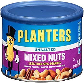 4-Pack Planters Unsalted Mixed Nuts (10.3 Ounce Canister)