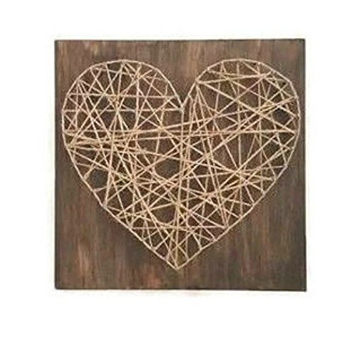 Amazon Heart Shaped Nail And String Art Wood Sign Handmade