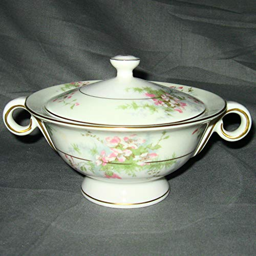 Haviland Apple Blossom (New York) Sugar Bowl And Lid With Handle