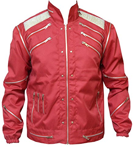 MJ Beat It Red Michael Jackson Thriller Cordura Jacket, XXS-3XL (Large (Best for Chest Size 42)) ()