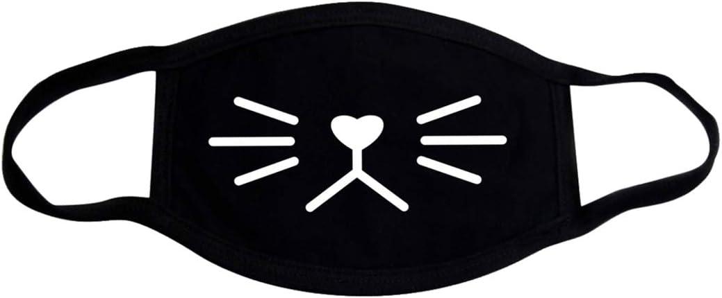 FunPa Máscara de Algodón, Unisex Adolescentes Máscara Bucal Máscara Facial Patrón Lindo Máscara KPOP Protección contra el Polvo Lavable Protección contra el Frío para Ciclismo Hombres y Mujeres