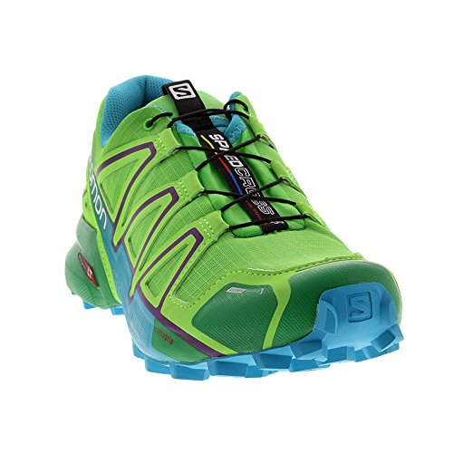 Womens CS Tierra Salomon Speedcross 4 De Verde Zapatilla Correr para Rg7tf7