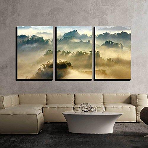 Morning Sunshine with Fog x3 Panels