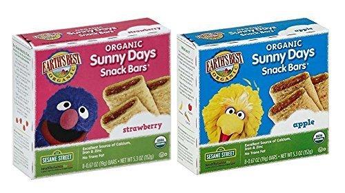 Earth's Best Organic Sunny Days Snack Bars Bundle: 1 Box of Strawberry & 1 Box of Apple - Sunnies Best