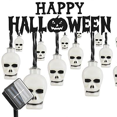 Halloween Outdoor Light, Hsctek Solar String Light with 8 Lighting Model, Waterproof & Light Senor for Yard, Garden