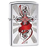 Zippo Red Cross High Polish Chrome Pocket Lighter