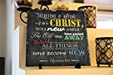 Therefore If Anyone Is in Christ, He Is a New Creation… 2 Corinthians 5:17 | InspiraGifts | Religious Decor | Natural Stone Plaque | Perfect Christian Gift (12″ X 12″)